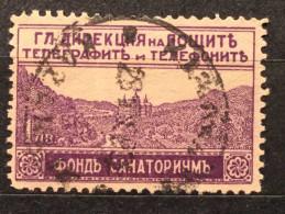 RARE 1 LEV FUND SANATORIUM Telegraph And Telephone 1925 KINGDOM BULGARIA MINT - Used Stamps