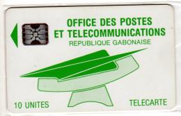 GABON REF MV CARDS GAB-12  SC5 10U Numéro C2A040628 - Gabon