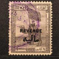 RARE 1923 4 ANNAS IRAQ REVENUE OVERPRINT RARE STAMP MINT - Iraq