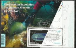 Découverte De L'épave Du HMS Erebus De La Royal Navy 2014 (Expédition Franklin En Arctique) 1848. Bloc-feuillet Neuf ** - Spedizioni Artiche