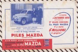 325 BUVARD PILES MAZDA CONCOURS 4 CV RENAULT SPORT 1954 ROUSSEURS - Piles