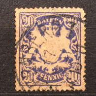 1888 20 PHENNIG BAYER GERMANY LION CROWN  STAMP DEEP RELIEG VERY GOOD STAMP - Allemagne