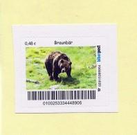 """Privatpost -  Biberpost  -   """"Nordische Tiere""""   Europäischer Braunbär (U. A. Arctos - BRD"""