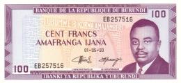 BURUNDI 100 FRANCS 1993 P-29c UNC [BI217i] - Burundi