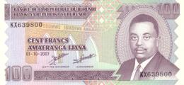 BURUNDI 100 FRANCS 2007 P-37f UNC [BI223f] - Burundi