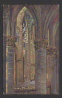DF / ART DU VITRAIL / JACQUES PAUL SIMON VERRIER DE LA CATHÉDRALE DE REIMS / INTÉRIEUR DE LA CATHÉDRALE EN 1918 - Other