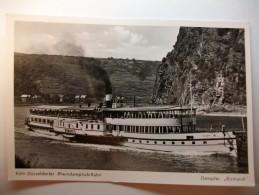 "Carte Postale Allemagne Koln-Dusseldorfer Rheindampfschiffahrt -Dampfer ""Bismarck"" (Petit Format 1952 Non Circulée) - Ferries"