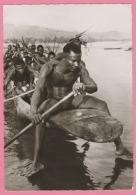 CP CONGO - 1957 -  Carte Photo  De Congopresse - EN PIROGUE SUR L´UBANGI - Belgian Congo - Other