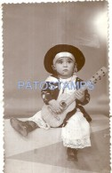 53564 REAL PHOTO COSTUMES GAUCHO WITH GUITAR TOY NO POSTAL TYPE POSTCARD - Alte Papiere