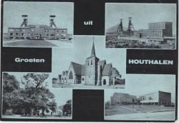 HOUTHALEN-GROETEN-MEERZICHT-KOLENMIJN-CHARBONNAGE-DRUKKERIJ-E.LEFRERE-VERZONDEN KAART-ZIE 2 SCANS-MOOI ! ! ! - Houthalen-Helchteren