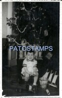 53566 REAL PHOTO MERRY CHRISTMAS TREE BOY WITH SHIP TRUCK & PAIL TOY NO POSTAL TYPE POSTCARD - Alte Papiere
