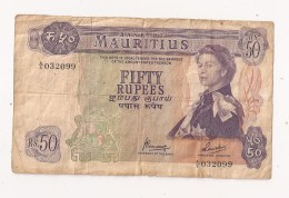 BANK OF MAURITIUS FIFTY RUPEES 50 RUPEES - Maurice