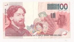 BELGIQUE 100 FRANCS Ensor - 100 Francs