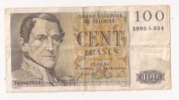 BELGIQUE 100 FRANCS 1954 - [ 2] 1831-... : Belgian Kingdom