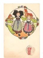 CPA Hansi Deux Petites Filles Alsaciennes - Hansi