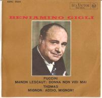 """Beniamino Gigli  PUCCINI: MANON LESCAUT - MIGNON 7"""" M - Opera"""