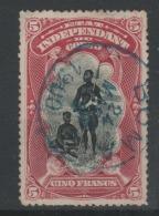 Etat Indépendant Du CONGO 1894 - Obl. COB 28  5 Fr -  MOLS -  SUPER CENTREE  - - Belgisch-Kongo
