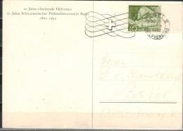 SCHWEIZ 1952 - SStmp. 70 Jahre Philatelieverein  Basel  MiNr: 542 - Cartas