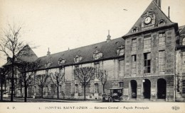 PARIS  10è Hopital Saint-Louis Batiment Central  Animée Voiture ELD - Gesundheit, Krankenhäuser