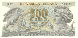 (B0249) ITALY, 1967. 500 Lire. P-93a. UNC - 500 Lire