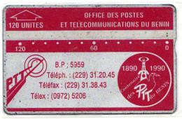 BENIN REF MV CARDS BEN-02A 120U  211A