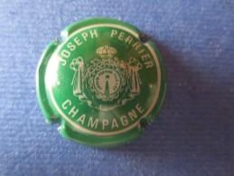 JOSEPH PERRIER. Vert  Et Blanc. Dessin Plus Fin - Champagne
