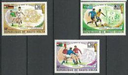 "Hte-Volta YT 329 à 331 "" VAINQUEURS  Football, Munich "" 1974 Neuf** - Upper Volta (1958-1984)"