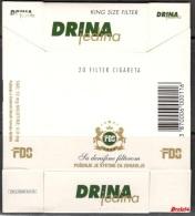 Tobacco Cigarettes Cardboard Box Bosnia Sarajevo Drina Jedina - Boites à Tabac Vides