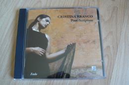 Cristina Branco - Post-Scriptum - Fado - Musiques Du Monde