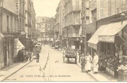 CPA Paris, Paris XVIIème Arr, Rue Montenotte - France