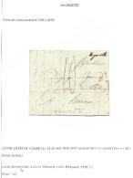 """L Datée De Clabecq 1830 Manuscrit """"Lagenette"""" (non Repris Chez Herlant) Pour Hornu. RR - 1830-1849 (Belgique Indépendante)"""