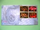 United Nations - Vienna 2005 FDC Cover - Endangered Species - Flowers - Orchids (bloc Of 4 - Scott #363a = 6 $) - Wien - Internationales Zentrum