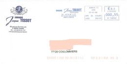 EMA SP 568360 Jura + Flamme Tissot Viticulteur Sur Enveloppe Illustrée Domaine à Arbois Vin Vigne Alcool - Wines & Alcohols