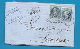 Ille Et Vilaine - Rennes Pour Morlaix (Finistère). GC + CàD Type 15. APRES LE DEPART - 1849-1876: Période Classique