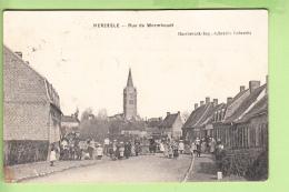 HERZEELE - Rue De Wormhoudt - Eglise - Superbe Plan Animé - Peu Courant - 2 Scans - Non Classés