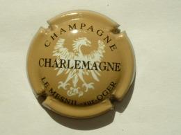 CAPSULE DE CHAMPAGNE  - CHARLEMAGNE - BISTRE NOIR ET BLANC - Champagne