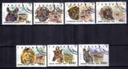 Animaux Faune Sauvage Tanzanie (21) Série Complète De 7 Timbres Oblitérés - Stamps