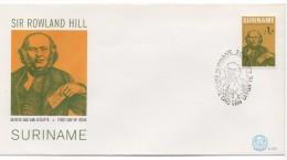 3054  FDC Suriname  Paramaribo 1979   Sir Rowland Hill - Suriname ... - 1975