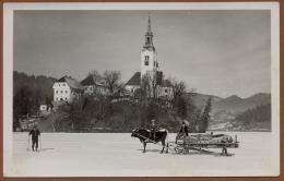 SLOVENIA, BLED In WINTER PICTURE POSTCARD 1932 RARE!!!!!!!!! - Eslovenia