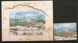 Histoire De La TRANSHUMANCE Des Ovins Entre L'Aquila Et Foggia.  Un Bloc-feuillet + Le Timbre Neufs ** - 6. 1946-.. Repubblica