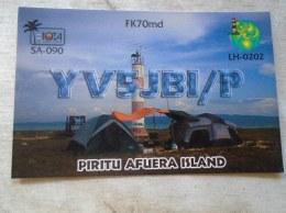 D137845.1490 QSL Card - RADIO AMATEUR   - Piritu Afuera Island  Venezuela - Radio Amateur