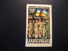 REPUBLIQUE CENTRAFICAINE Yvert 26 Cat. 5 Eur Aprox. ** Unhinged Imperforated Proof Epreuve Militar France Area - Centrafricaine (République)