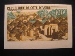COTE D'IVOIRE Ivory Coast Yvert Air 39 Cat. 5 Eur Aprox. Imperforated Proof Epreuve Village Senoufo France Area - Côte D'Ivoire (1960-...)