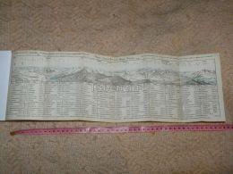 Alpen Aussicht Vom Rigi Kulm Pilatus Map Karte Suisse Switzerland Suisse 1867 - Cartes Géographiques