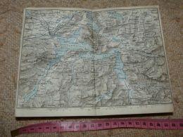 Vierwaldstatter SeeLuzern Schwyz Altorf Map Karte Suisse Switzerland Suisse 1867 - Cartes Géographiques