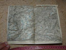 Meiringen Oberwald Hospenthal Bedretto Map Karte Suisse Switzerland Suisse 1867 - Cartes Géographiques