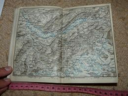 Thuner See Brienzer See Grindelwald Brienz Reutigen Map Karte Suisse Switzerland Suisse 1867 - Carte Geographique
