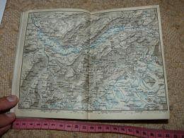 Thuner See Brienzer See Grindelwald Brienz Reutigen Map Karte Suisse Switzerland Suisse 1867 - Cartes Géographiques