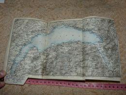 Geneve Lac Leman Nyon Lausanne Savoie Montreux Map Karte Suisse Switzerland Suisse 1867 - Cartes Géographiques