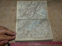 Chamonix Mont Blanc St. Martin Map Karte Suisse Switzerland Suisse 1867 - Cartes Géographiques